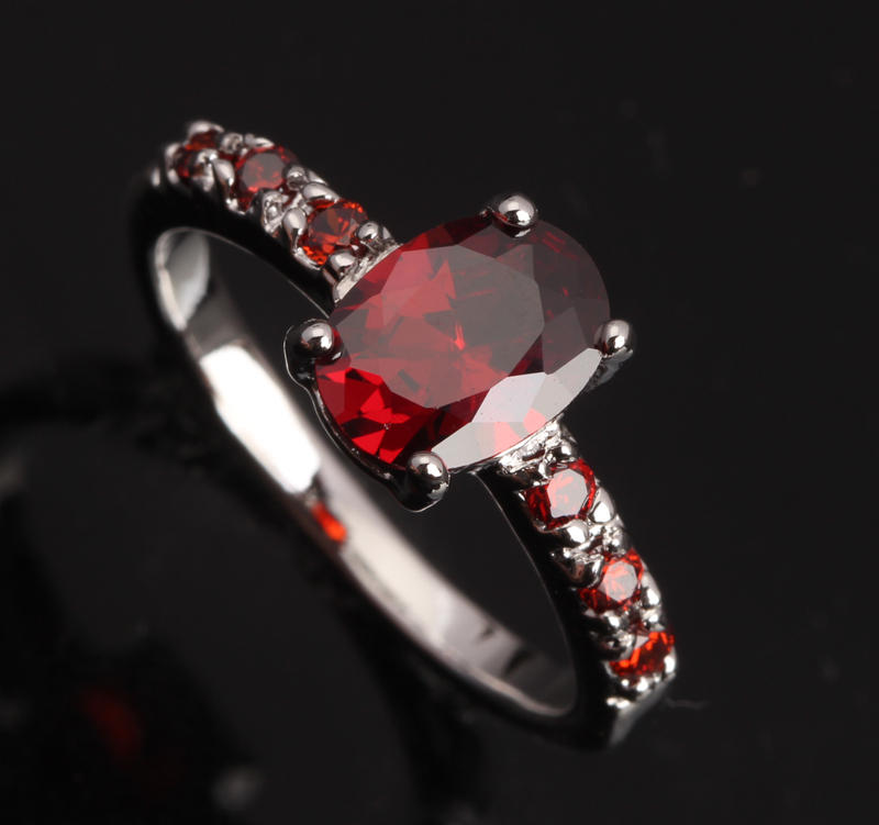 Impressive Cute Gems Red Garnet High Quality 925 Sterling Silver Women&39;s Fashion Jewelry For Women Rings Size 6 7 8 9 S0061