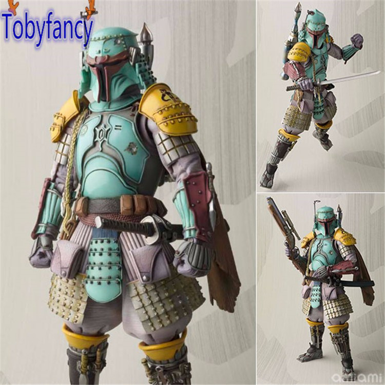 Star Wars Action Figure Boba Fett Samurai Taisho PVC Gerçekleşme 170mm Anime MOVIE Star Wars Koleksiyon Model Oyuncaklar Tobyfancy