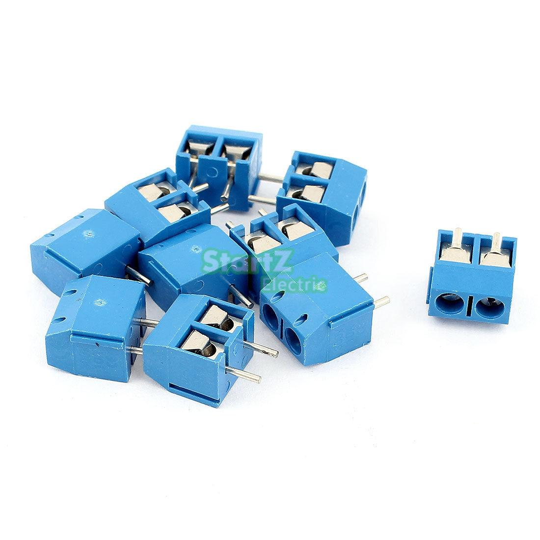20 adet Düz Plug Vida PCB Terminal Bloğu Connector 5.08mm Pitch bule KF-301-2Pin