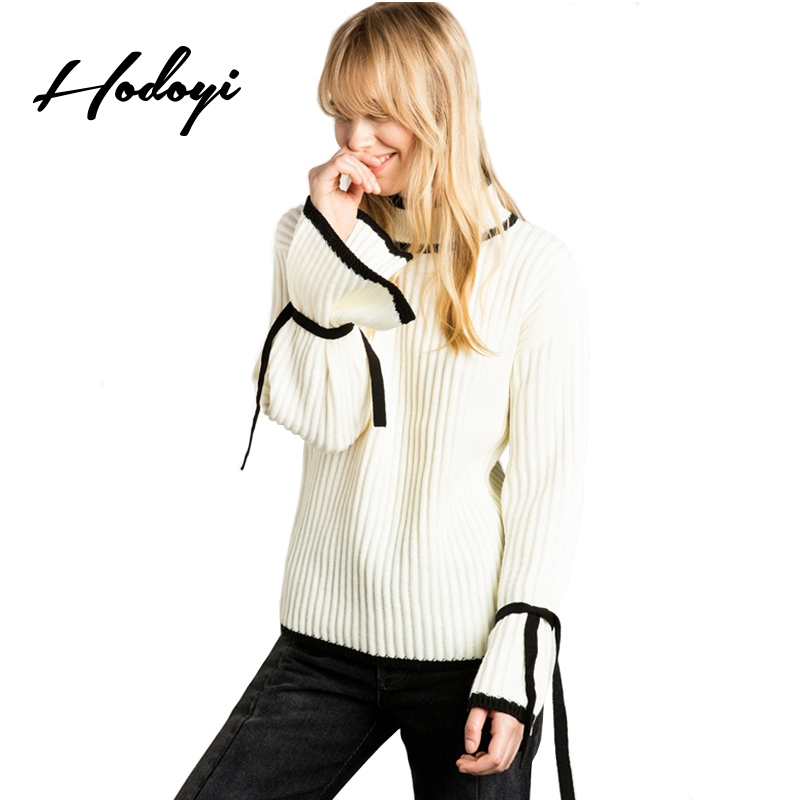 Hodoyi 2017 Fashion Sweater Women Casual Solid White O-neck Full Sleeve Pullovers Tops Cute Preppy Autumn Female Sweaters
