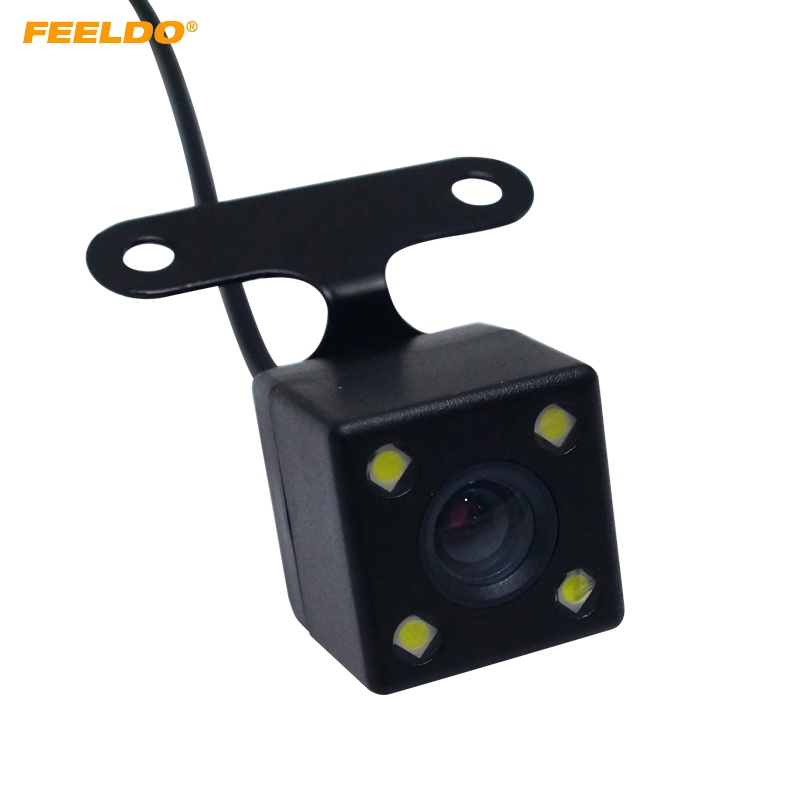 FEEELDO 1 Takım Araba 2.5mm (4Pin) Jack Port Video Portu Ile Dikiz Kamera LED Gece Görüş DVR Video Kaydedici AM1829 Için