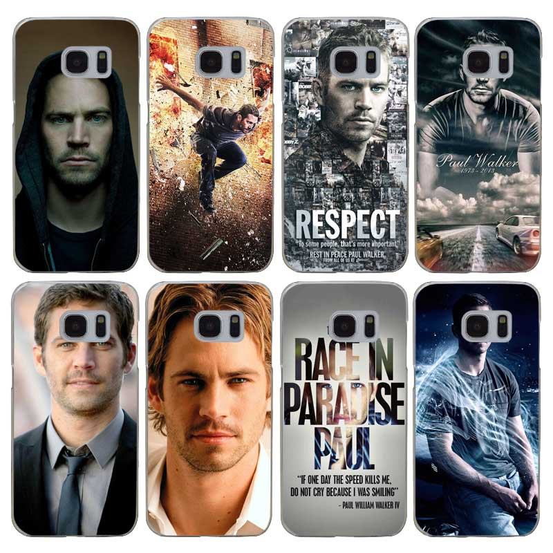 G207 Paul Walker Şeffaf Sert PC Case Kapak Için Samsung Galaxy S 3 4 5 6 7 8 Mini Kenar Artı Not 3 4 5 8